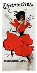 A Gaiety Girl  Vintage Poster Hand Towel
