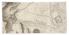 A Geometrical Plan Of The Ruined City Of Palmyra, 1753 Hand Towel