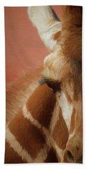 A Giraffe Da Bath Towel by Ernie Echols