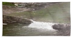 A Glimpse Of A Roadside Park Hand Towel by T Fry-Green