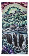 Hand Towel featuring the painting A Glimpse Of Time by Cheryl Pettigrew
