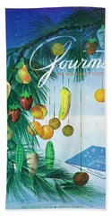 A Gourmet Cover Of Marzipan Fruit Hand Towel