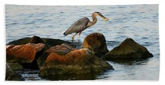 A Great Blue Heron Day Hand Towel