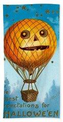 A Halloween Pumpkin Hot Air Balloon Hand Towel