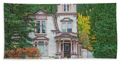 A Historical Treasure Constructed In 1870, Maxwell House, Georgetown, Colorado  Bath Towel