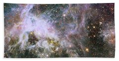 Bath Towel featuring the photograph A Hubble Infrared View Of The Tarantula Nebula by Nasa