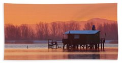 A Hut On The Water Bath Towel