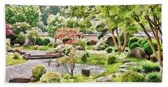 A Japanese Zen Garden Bath Towel