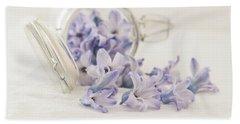 Bath Towel featuring the photograph A Jar Of Purple Sweetness by Kim Hojnacki