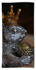 A King For A Day Bath Towel by Yvonne Wright