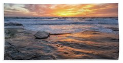 A La Jolla Sunset #2 Bath Towel