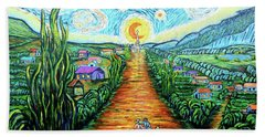 Hand Towel featuring the painting A La Vincent by Viktor Lazarev