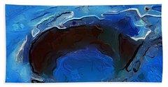 A Lifeless Planet Blue Hand Towel