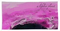 A Lifeless Planet Pink Hand Towel