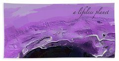 A Lifeless Planet Purple Hand Towel