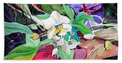 A Little Orchid Hand Towel by Mindy Newman