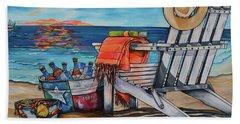 Bath Towel featuring the painting A Little Piece Of Texas Heaven by Patti Schermerhorn