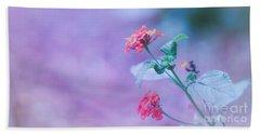 A Little Softness, A Little Color - Macro Flowers Bath Towel
