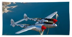 A Lockheed P-38 Lightning Fighter Hand Towel