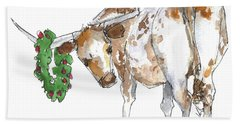 A Longhorn Christmas Leader, Come On In Bath Towel