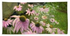A Lovely Garden Bath Towel by Karyn Robinson