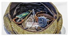 Hand Towel featuring the photograph A Man's Items by Walt Foegelle