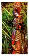 A Maori God In New Zealand Bath Towel