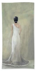 A Moment Alone Hand Towel by T Fry-Green