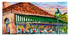 A Morning At Cafe Du Monde Hand Towel