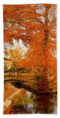 A Morning In Autumn - Lake Carasaljo Hand Towel