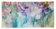 A Mothers Day Floral Acrylic Painting By Lisa Kaiser Hand Towel