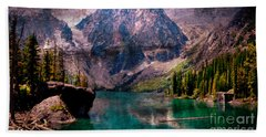 A Mountain Lake And Scenery Bath Towel
