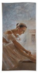 A New Day Ballerina Dance Bath Towel by Vali Irina Ciobanu