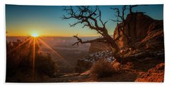 Bath Towel featuring the photograph A New Day Dawns by Kristal Kraft