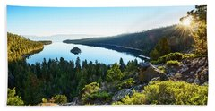A New Day Over Emerald Bay Bath Towel