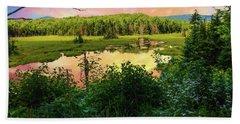 A New England Bog. Hand Towel