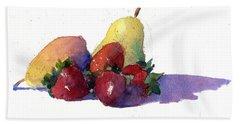 Still Life With Pears Bath Towel