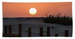 A November Sunset Scene Bath Towel