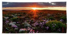 Hand Towel featuring the photograph A Nuttalls Linanthastrum Morning by Leland D Howard
