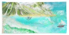 A Ocean Some Where Bath Towel