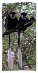 Pair Of Colobus Monkeys Bath Towel