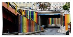 Bath Towel featuring the photograph A Throughway Of Many Colors by Lorraine Devon Wilke