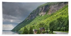 A Passing Cloud At Lake Willoughby In Westmore Vermont Hand Towel
