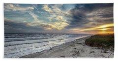 A Peaceful Beach Sunset Hand Towel