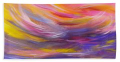 A Peaceful Heart - Abstract Painting Bath Towel