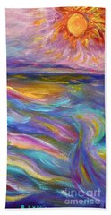 A Peaceful Mind - Abstract Painting Hand Towel by Robyn King