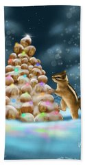 Hand Towel featuring the painting A Perfect Christmas Tree by Veronica Minozzi