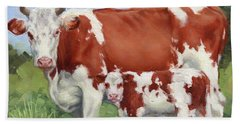 A Pretty Pair Miniature Painting  Hand Towel