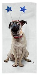 A Pug's Life Wordless Hand Towel