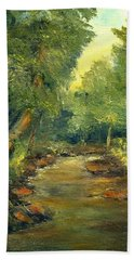 Bath Towel featuring the painting A Quiet Place by Gail Kirtz